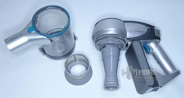 unboxing deposito y filtro aspirador Conga RockStar