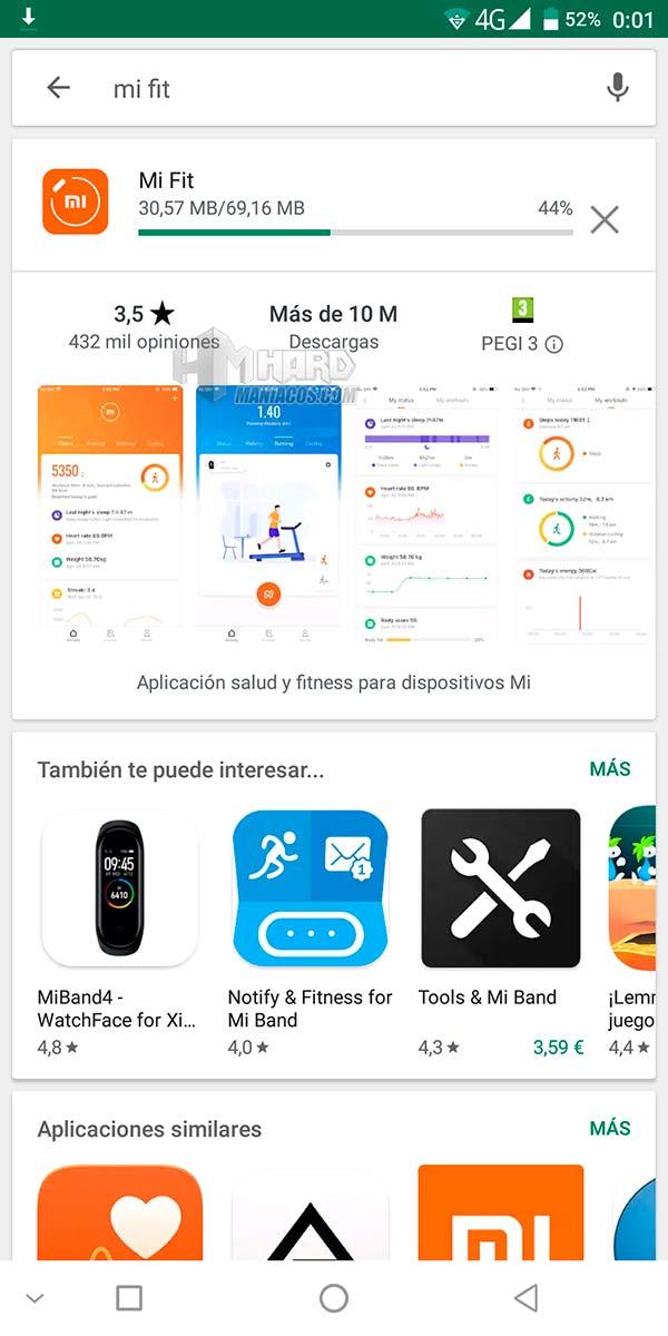 app MI Fit descargar Play Store