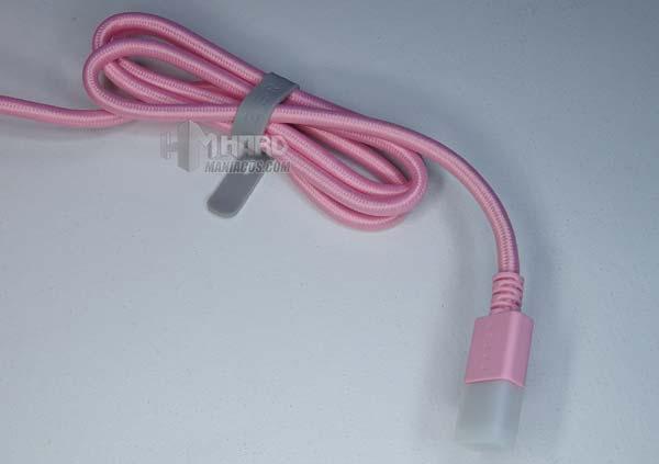 cable USB rosa Razer Base Station Chroma Quartz Edition