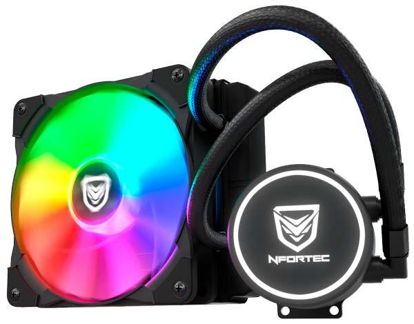 Nfortec Hydrus RGB, un ventilador