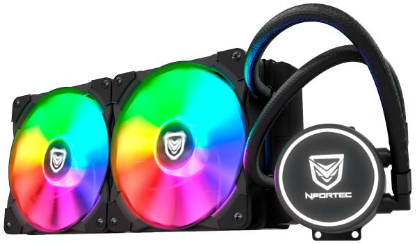 Nfortec Hydrus RGB, dos ventiladores