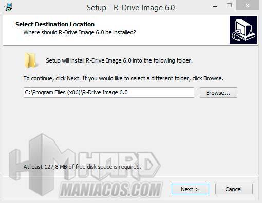 Instalacion de R-Drive Image