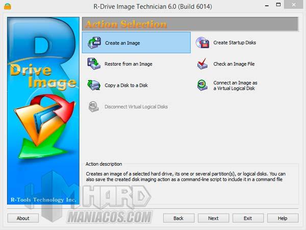 Opciones de R-Drive Image