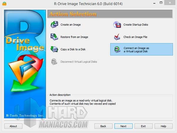 Montar na imagen de disco con R-Drive Image