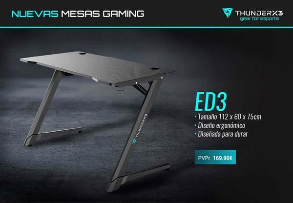 mesa gaming ed3 y ed7 de thunderx3