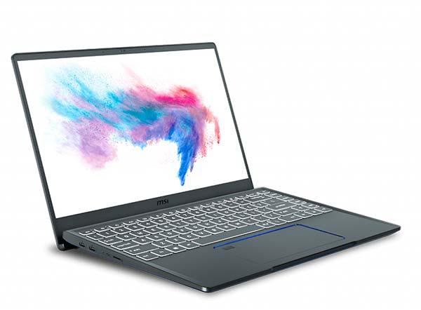 portatil MSI Prestige 14 diseño