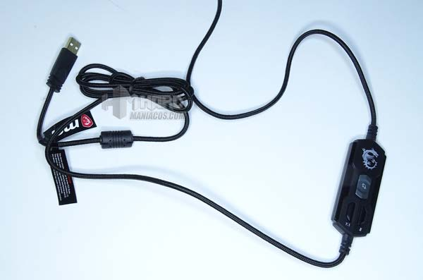 cable USB cascos MSI