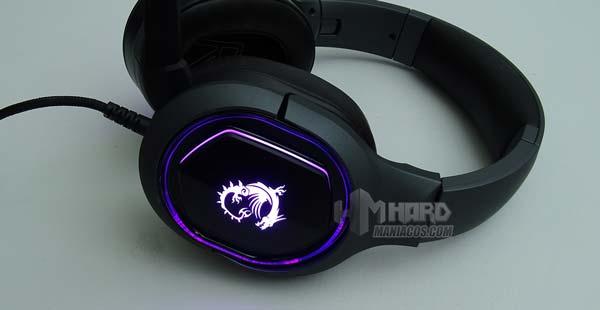 Iluminacion auriculares MSI Immerse GH50