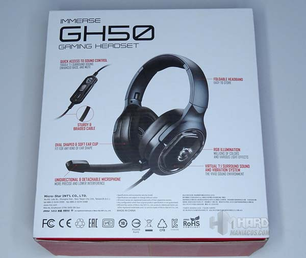 MSI GH50 caja detras