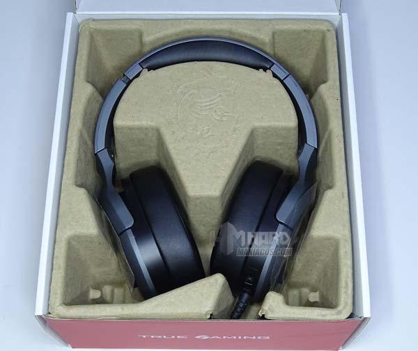 auriculares MSI GH50 en caja