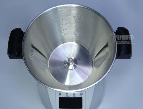 interior vaso ChefBot Compact SteamPro