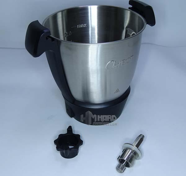 vaso desmonado eje robot cocina chefbot compact