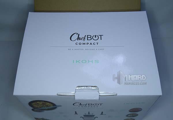 tapa caja dentro robot cocina Ikohs Cchefbot