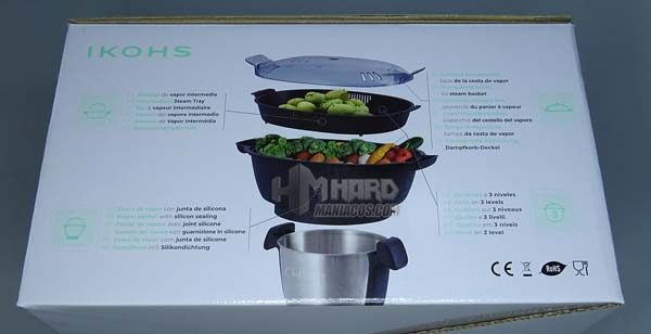 caja por detras cestos vapor robot cocina ChefBot Ikohs