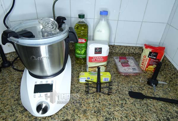 Preparacion bechamel en chefbot compact