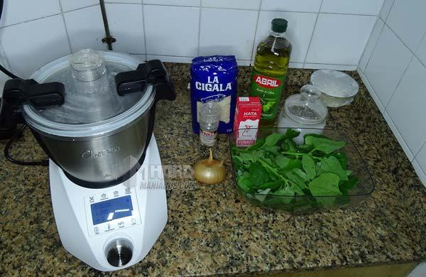Preparacion arroz crema espinacas robot cocina ikohs