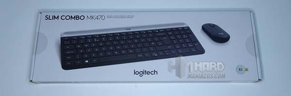 frontal caja teclado y raton combo Logitech MK470