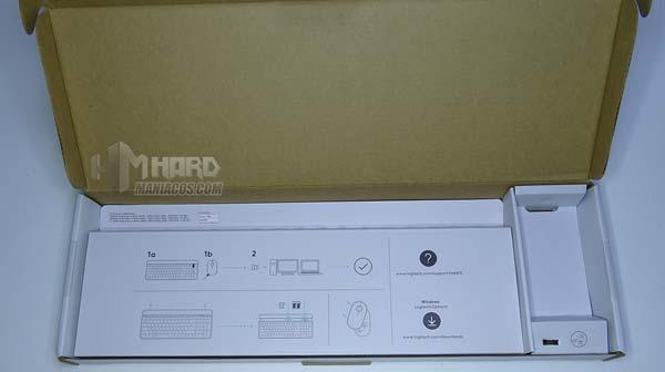 caroninstrucciones caja combo logitech mk470