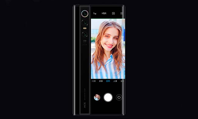 selfie Mi Mix Alpha