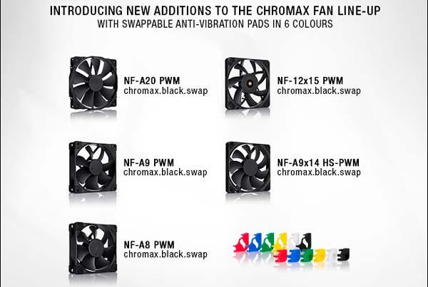 ventiladores Noctua chromax