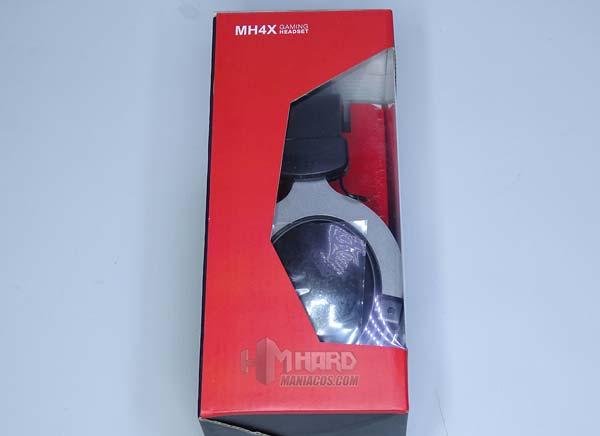 lateral lado transparente caja auriculares MH4X