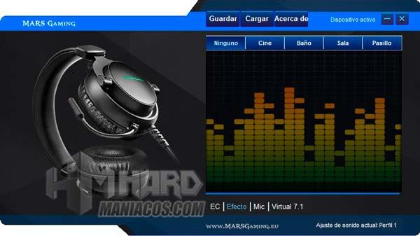 software Mars Gaming MH4X efectos sonido