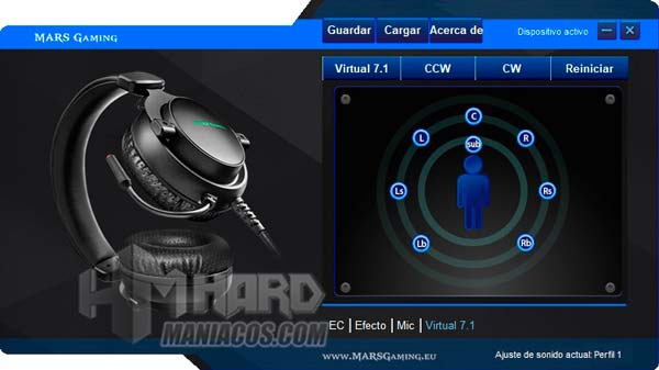 software Mars Gaming MH4X sonido 7.1