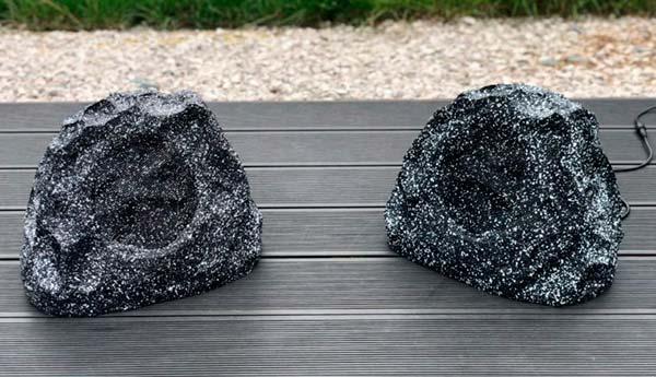 Altavoces piedra o roca: los mejores altavoces de exterior para el jardín