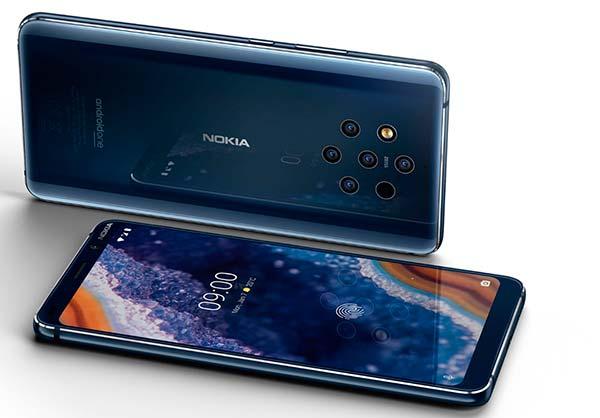 movil con 5 camaras Nokia 9 PureView