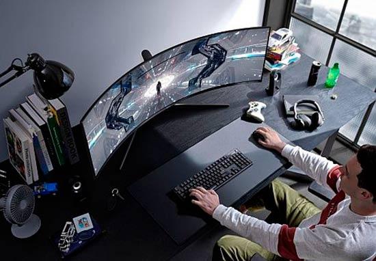 monitor curvo gaming Samsung
