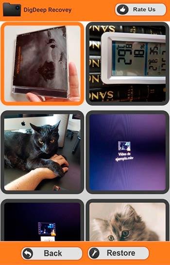DigDeep recupara fotos en Android
