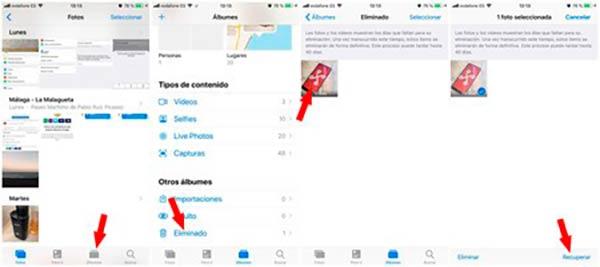 recuperar fotos borradas iphone 7