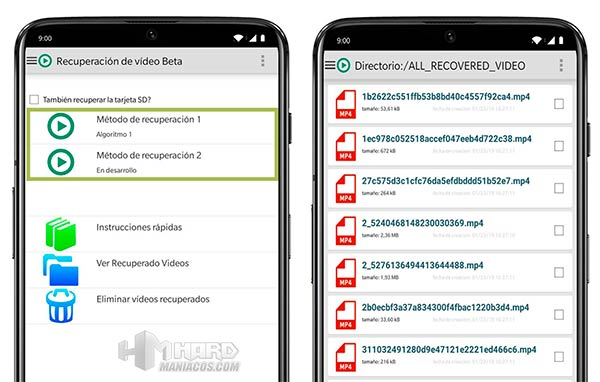 Video Recovery Android