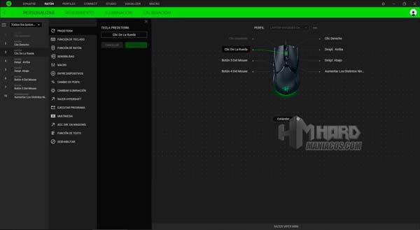Razer Synapse Personalizar Razer Viper Mini