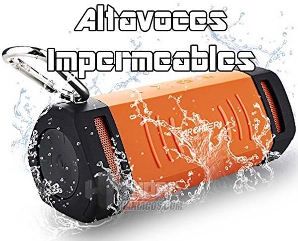 altavoces impermeables