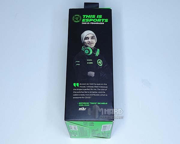 lateral jugador eSport caja Razer Viper