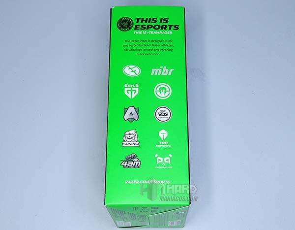 lateral caja Razer Viper equipos Team Razer