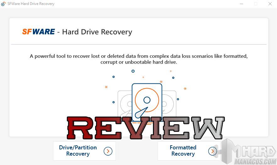 SFWare Hard Drive Recovery