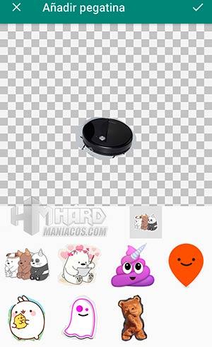 Sticker Studio añadir otra pegatina a sticker nuevo