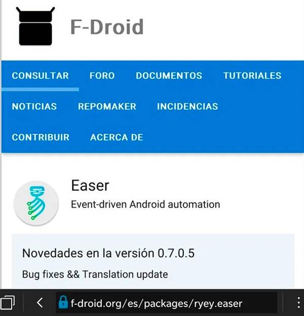 F-Droid descargar apk android