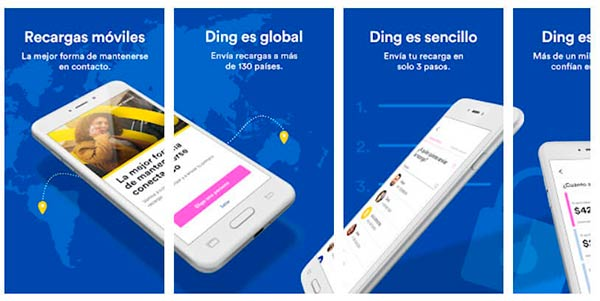 Ding app recargar saldo movil online