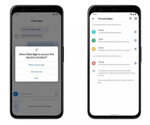 Android 11 permisos apps