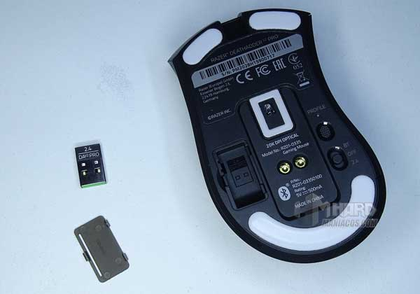 Razer DeathAdder V2 Pro y transmisor Razer HyperSpeed Wireless