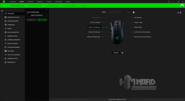 Razer DeathAdder V2 Pro Synpase personalizar botones