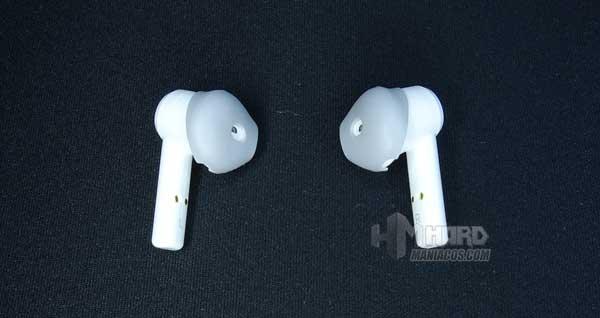 auriculares Razer Hammerhead True Wireless Earbuds Mercury con almohadillas
