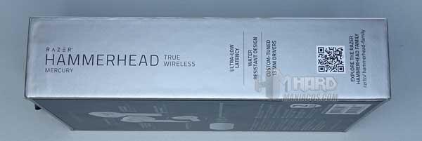 lateral caja Razer Hammerhead True Wireless Earbuds