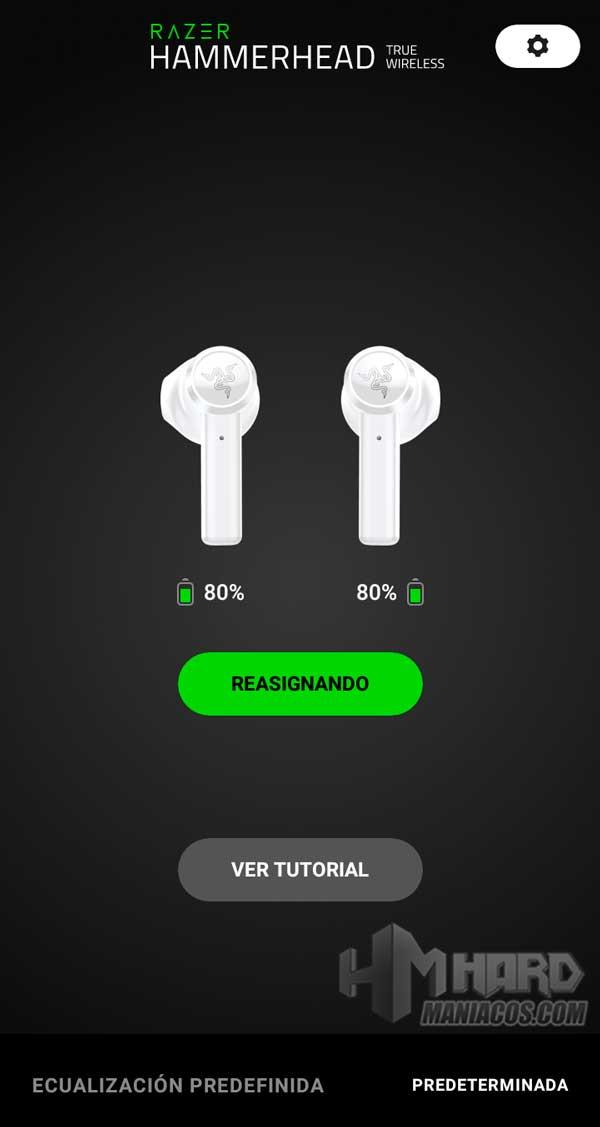 Razer Hammerhead True Wireless Earbuds Mercury app principal