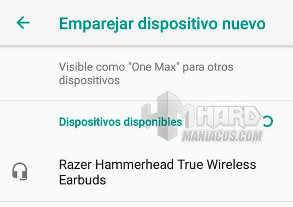 Razer Hammerhead True Wireless Earbuds Mercury conectividad en movil