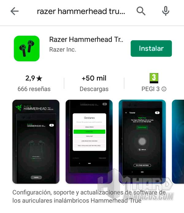 Razer Hammerhead True Wireless Earbuds Mercury app Google Play