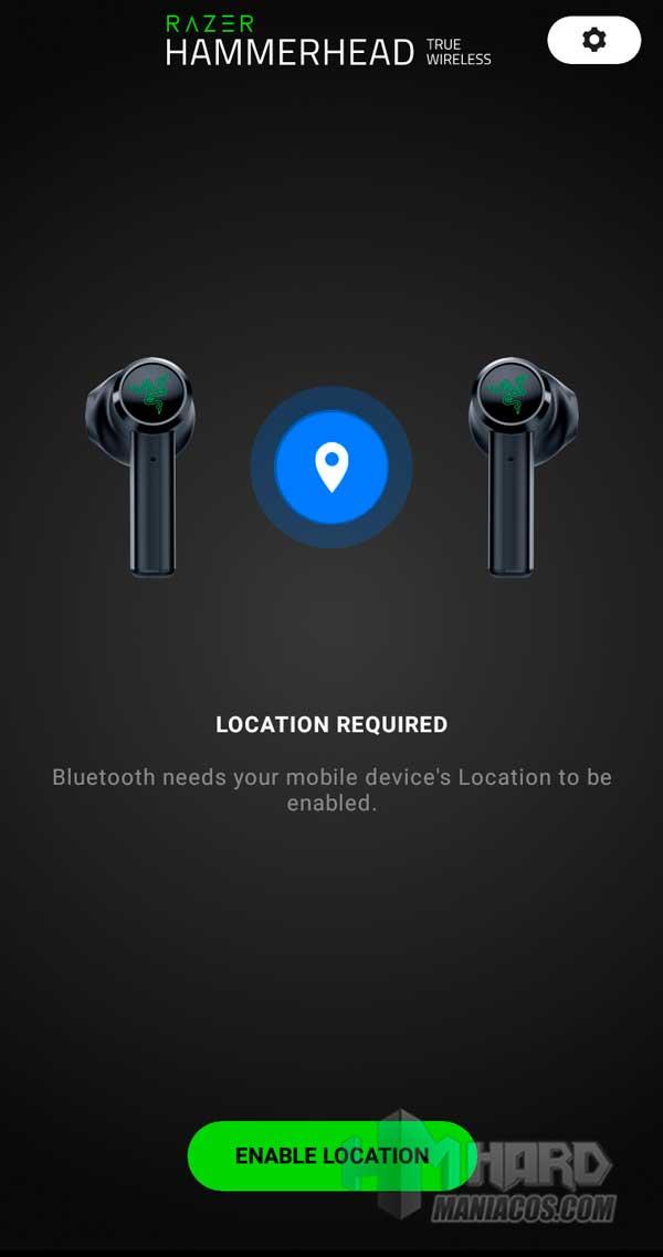 app Razer Hammerhead True Wireless Earbuds Mercury ubicacion